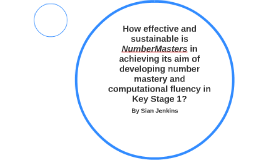 How effective and sustainable is NumberMasters in achieving