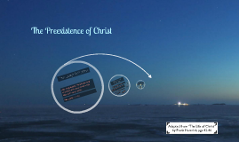 The Preexistence of Christ