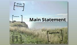 UC 421 Presentation