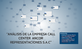 """ANALISIS DE LA EMPRESA CALL CENTER  ANCOR REPRESENTACIONES"