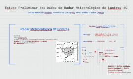 Estudo Preliminar dos Dados do Radar Meteorológico de Lontra
