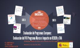Evaluación del VII Programa Marco e Impacto en H2020