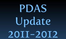 PDAS Update 2011-2012
