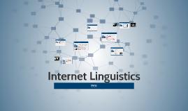 Internet Linguistics