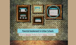Parental Involvement in Urban Schcools