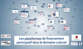 ENG Copie de Les plateformes de financement participatif dans le domaine