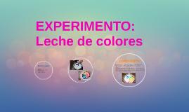 EXPERIMENTO: Leche de colores