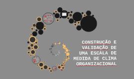 CONSTRUÇÃO E VALIDAÇÃO DE UMA ESCALA DE MEDIDA DE CLIMA ORGA