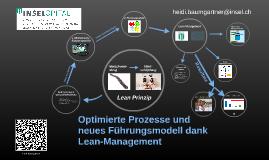 Copy of Optimierte Prozesse und neues Führungsmodell dank Lean-Management