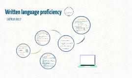 Written language proficiency L6EN10 sp17