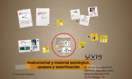 Instrumental y material quirurgico.