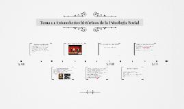 Tema 1.1 Antecedentes históricos de la Psicología Social