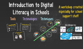 Introduction to Digital Literacy for School Support Staff - taster workshop