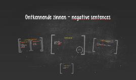 Ontkennende zinnen