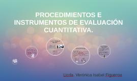 PROCEDIMIENTOSE  INSTRUMENTOS DE EVALUACIÓN CUALITATIVA Y CU
