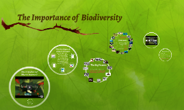The Importance of  Biodiversity