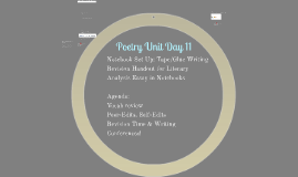 Poetry Unit Day 11