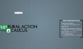 Copy of 2015 Rural Action Caucus - Year In Review