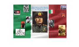 Benito Mussolini Culminating Activity