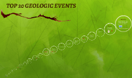 TOP 20 GEOLOGIC EVENTS