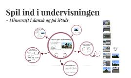 Minecraft i dansk og med iPads