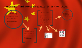 Meinungs -und Pressefreiheit China