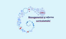 Managmentul curriculum-ului