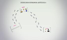 DERECHOS HUMANOS: ARTÍCULOS 1 Y 29