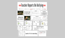 Teacher Reports On Bullying