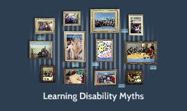 Learning Disability Myths