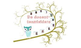 De docent-teamleiders