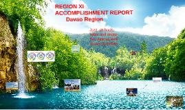 Davao Region Accomplishment Report