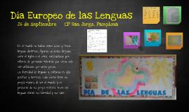Día Europeo de las Lenguas 2013 CP San Jorge Pamplona
