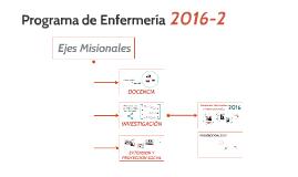 Programa de Enfermería 2016-2