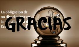 La obligación de no discriminar en la constitución del Ecuad