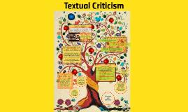 Copy of Textual Criticism