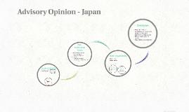 Advisory Opinion - Japan
