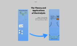 The Theory and Application of Electrolysis