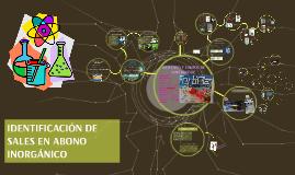 IDENTIFICACIÓN DE SALES EN ABONO INORGÁNICO