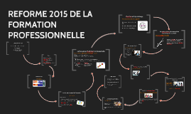 Copy of REFORME 2015 DE LA FORMATION PROFESSIONNELLE