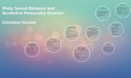 Risky Sexual Behavior and Borderline Personality Disorder
