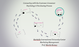Connecting with the Customer: Consumer Psychology & Purchasi