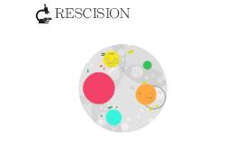 RESCISION