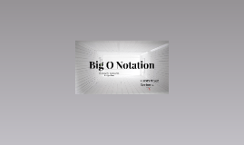 COMS W3137 Lecture 2: Big O Notation