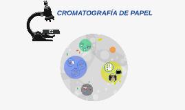 CROMATOGRAFIA DE PAPEL