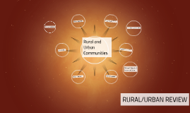 Rural and Urban Communities