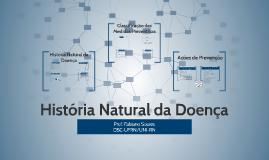 EPIDEMIOLOGIA: História Natural das Doenças e Níveis de Prevenção