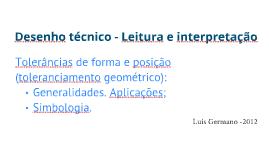 Desenho técnico - Leitura e interpretação