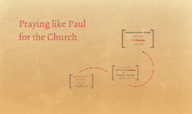 Praying like Paul for the Church