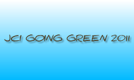 JCI Going Green 2011 UK